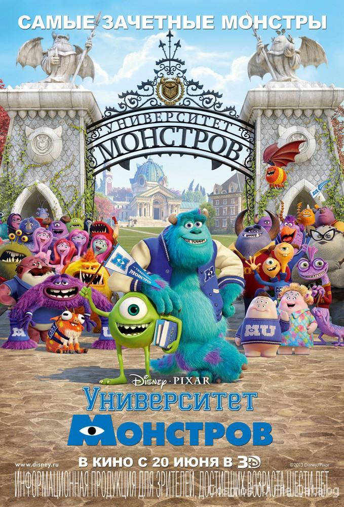 Университет монстров (Monsters University, 2013)